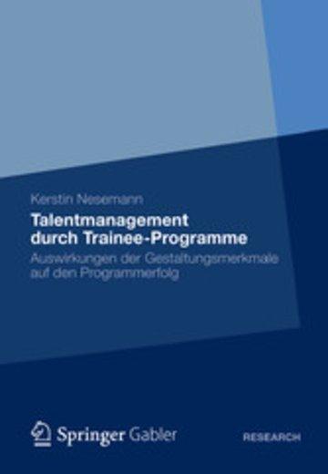 eBook Talentmanagement durch Trainee-Programme Cover