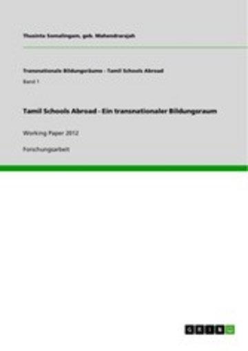 eBook Tamil Schools Abroad - Ein transnationaler Bildungsraum Cover