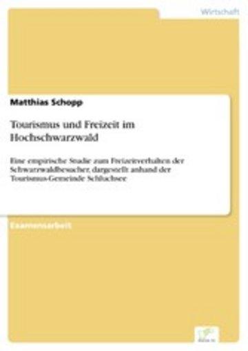 eBook Tourismus und Freizeit im Hochschwarzwald Cover