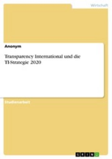 eBook Transparency International und die TI-Strategie 2020 Cover