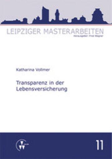eBook Transparenz in der Lebensversicherung Cover