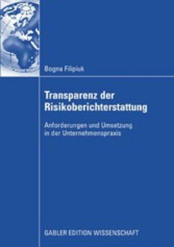 eBook Transparenz der Risikoberichterstattung Cover