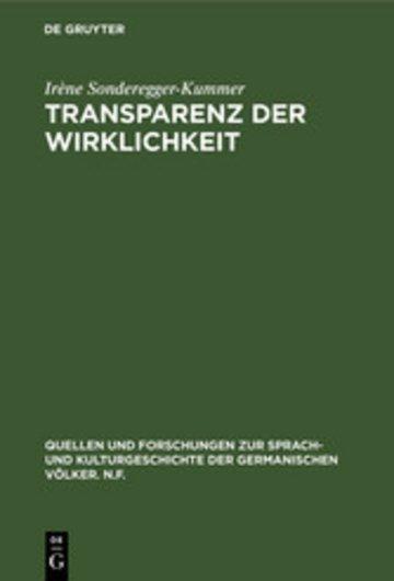 eBook Transparenz der Wirklichkeit Cover