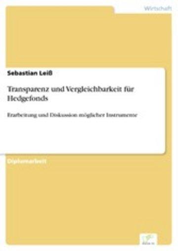 eBook Transparenz und Vergleichbarkeit für Hedgefonds Cover