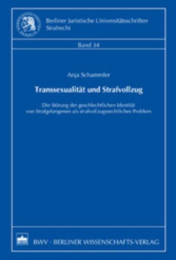 eBook Transsexualität und Strafvollzug Cover