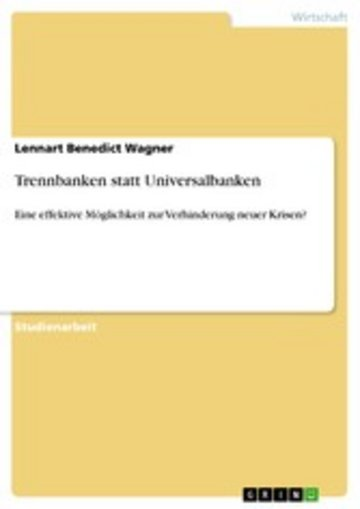 eBook Trennbanken statt Universalbanken Cover