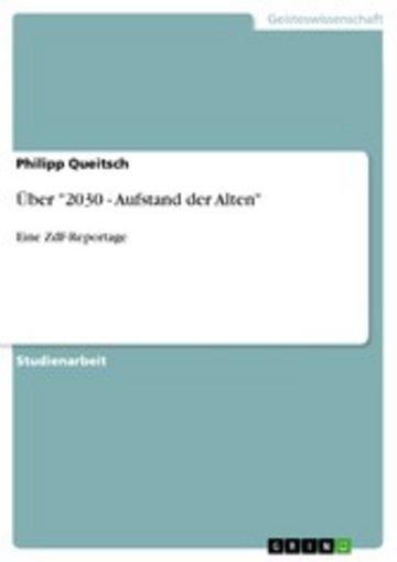 eBook Über '2030 - Aufstand der Alten' Cover