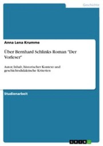 eBook Über Bernhard Schlinks Roman 'Der Vorleser' Cover
