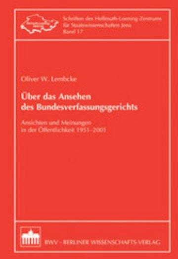 eBook Über das Ansehen des Bundesverfassungsgerichts Cover