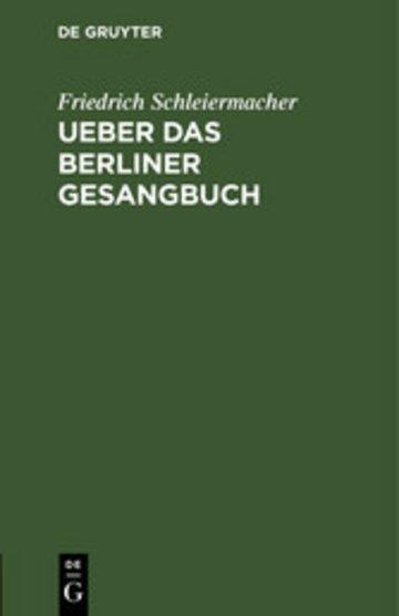 eBook Ueber das Berliner Gesangbuch Cover