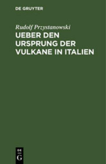 eBook Ueber den Ursprung der Vulkane in Italien Cover
