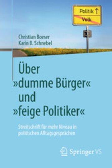 eBook Über 'dumme Bürger' und 'feige Politiker' Cover