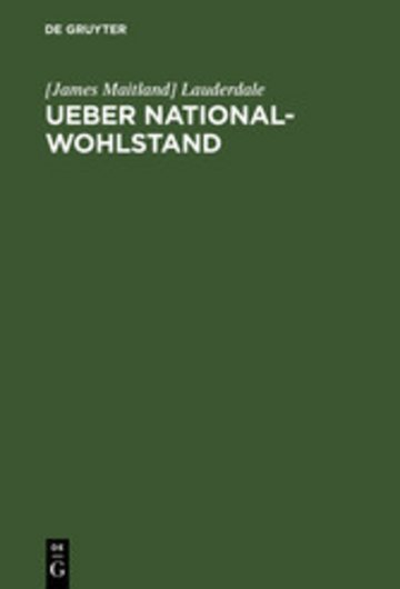 eBook Ueber National-Wohlstand Cover