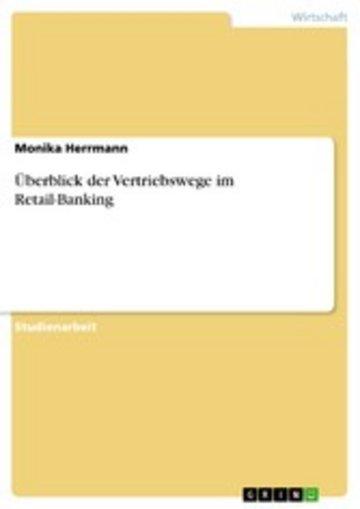 eBook Überblick der Vertriebswege im Retail-Banking Cover