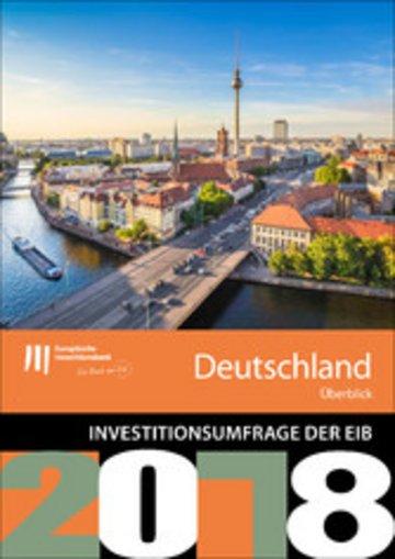 eBook Umfrage der EIB zur Investitionstätigkeit - Überblick für Deutschland Cover