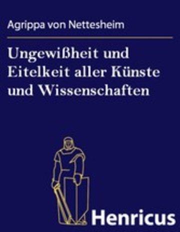 eBook Ungewißheit und Eitelkeit aller Künste und Wissenschaften Cover