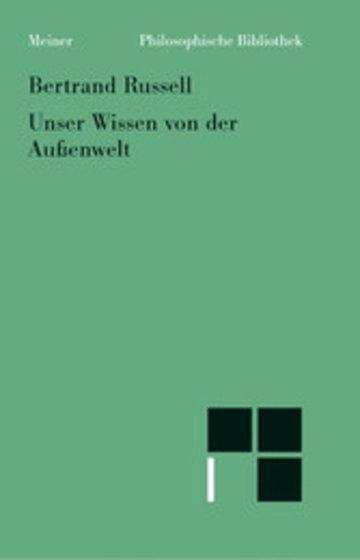eBook Unser Wissen von der Außenwelt Cover