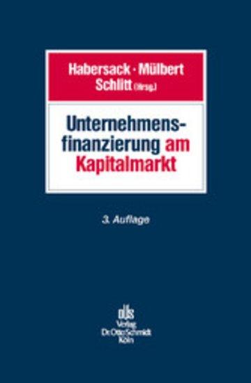 eBook Unternehmensfinanzierung am Kapitalmarkt Cover