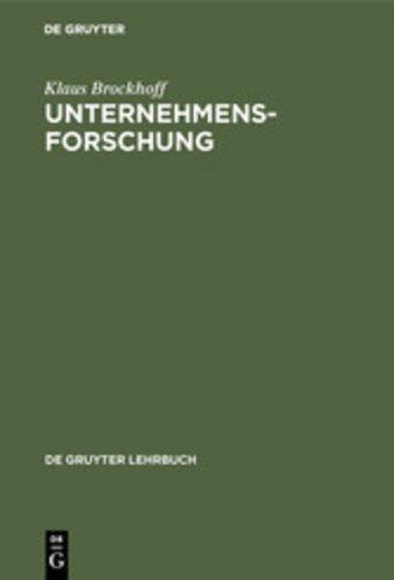 eBook Unternehmensforschung Cover