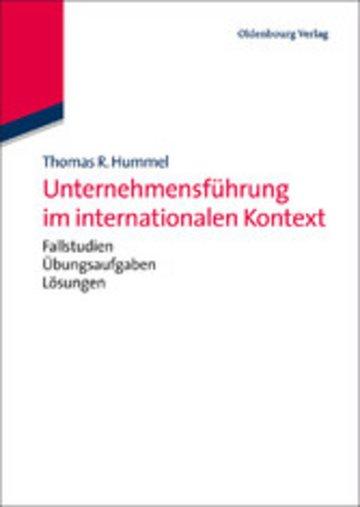 eBook Unternehmensführung im internationalen Kontext Cover