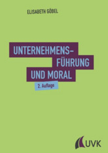 eBook Unternehmensführung und Moral Cover