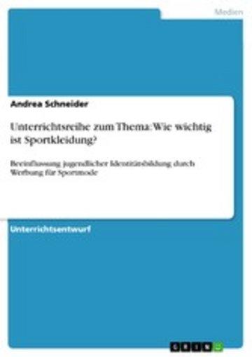 eBook Unterrichtsreihe zum Thema: Wie wichtig ist Sportkleidung? Cover