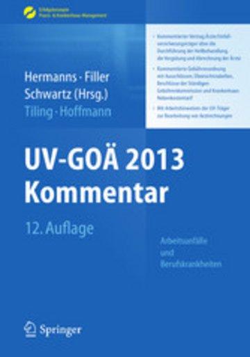 eBook UV-GOÄ 2013 Kommentar - Arbeitsunfälle und Berufskrankheiten Cover
