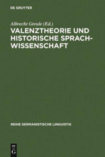 eBook Valenztheorie und historische Sprachwissenschaft Cover