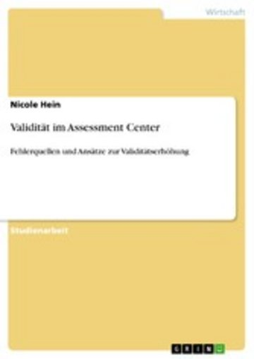 eBook Validität im Assessment Center Cover