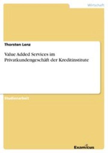 eBook Value Added Services im Privatkundengeschäft der Kreditinstitute Cover