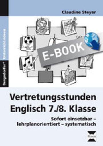 eBook Vertretungsstunden Englisch 7./8. Klasse Cover