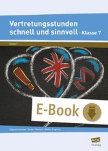 eBook Vertretungsstunden schnell und sinnvoll Klasse 7 Cover