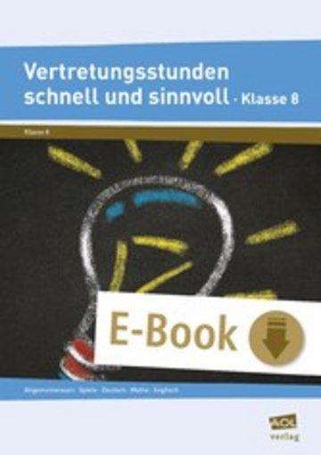 eBook Vertretungsstunden schnell und sinnvoll Klasse 8 Cover