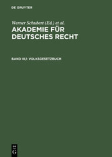 eBook Volksgesetzbuch Cover