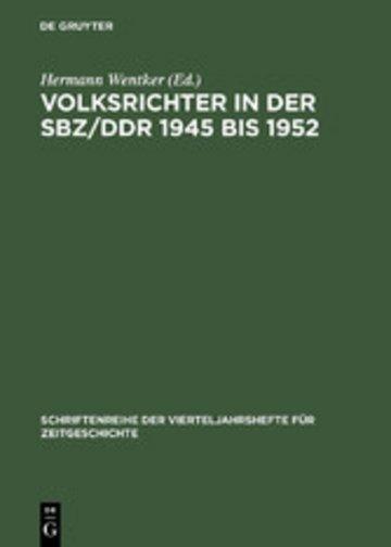 eBook Volksrichter in der SBZ/DDR 1945 bis 1952 Cover