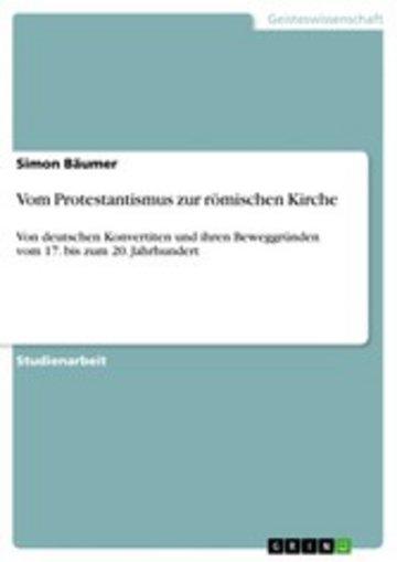 eBook Vom Protestantismus zur römischen Kirche Cover