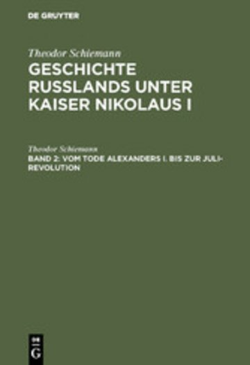 eBook Vom Tode Alexanders I. bis zur Juli-Revolution Cover