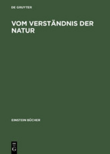 eBook Vom Verständnis der Natur Cover