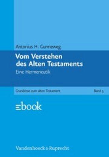 eBook Vom Verstehen des Alten Testaments Cover