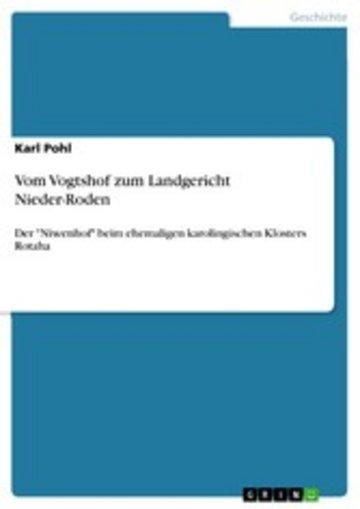 eBook Vom Vogtshof zum Landgericht Nieder-Roden Cover