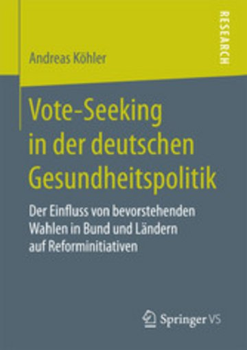 eBook Vote-Seeking in der deutschen Gesundheitspolitik Cover