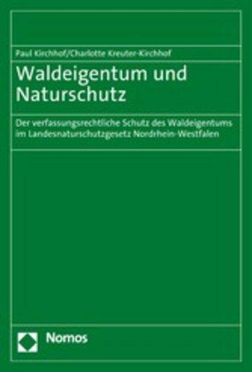 eBook Waldeigentum und Naturschutz Cover