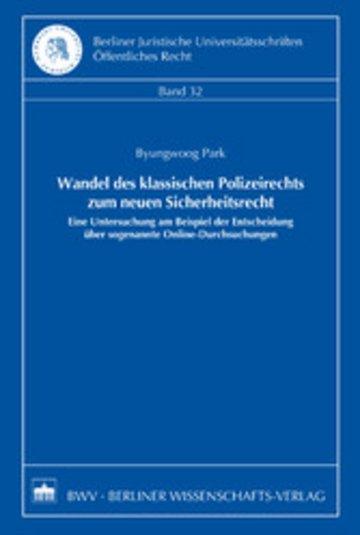 eBook Wandel des klassischen Polizeirechts zum neuen Sicherheitsrecht Cover