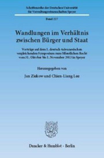 eBook Wandlungen im Verhältnis zwischen Bürger und Staat. Cover