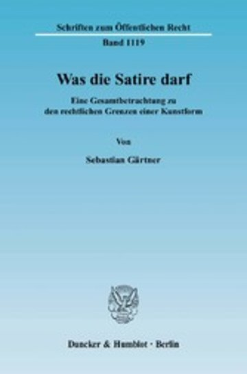 eBook Was die Satire darf. Cover