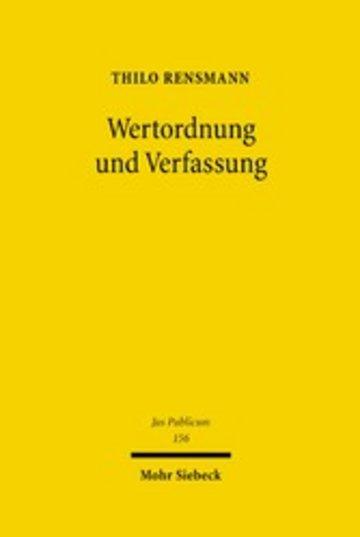 eBook Wertordnung und Verfassung Cover