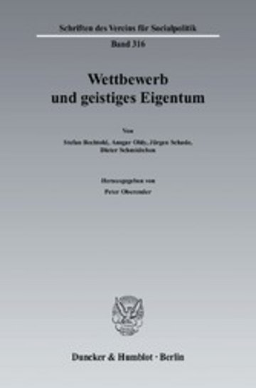 eBook Wettbewerb und geistiges Eigentum. Cover