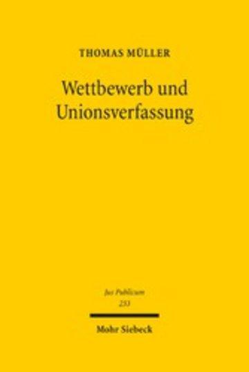 eBook Wettbewerb und Unionsverfassung Cover