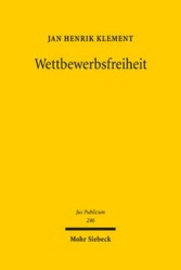 eBook Wettbewerbsfreiheit Cover