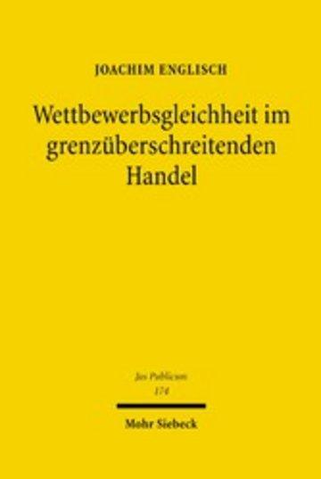 eBook Wettbewerbsgleichheit im grenzüberschreitenden Handel Cover